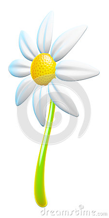 3d Daisy Simple Design Element