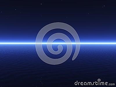 3D dark blue sea