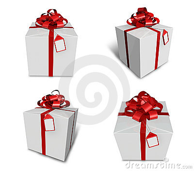 3d decorated white gift