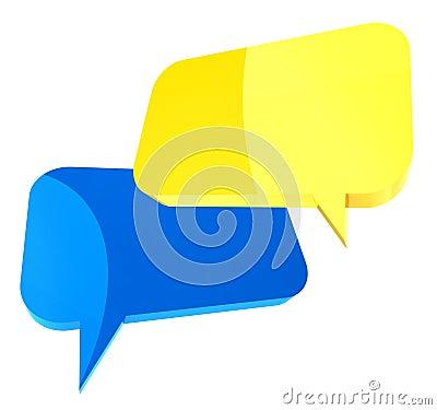 3d dialog icon