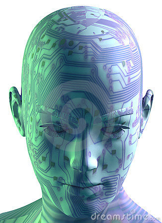 Free 3D Digital Head Portrait Royalty Free Stock Image - 1309716