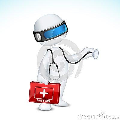 3d Doctor in Vector