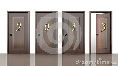 3d doors with new year 2013