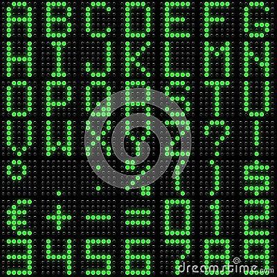 3D dot-matrix font with reflection