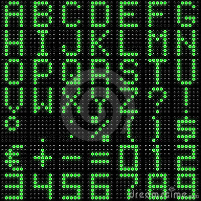 Free 3D Dot-matrix Font With Reflection Royalty Free Stock Images - 19825789