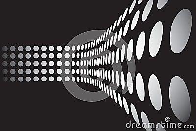 3D Dots Wall Layout