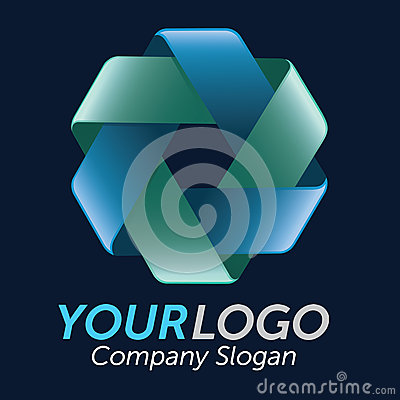 3D Double Triangle Logo