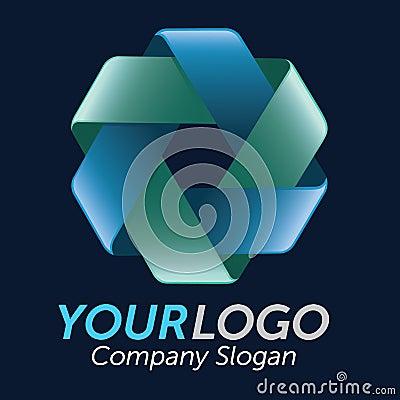 3D Double Triangle Logo