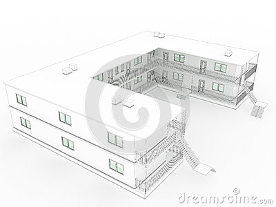 3D drawing of the hotel №3