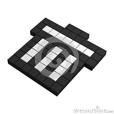 3d dumpster pixel icon