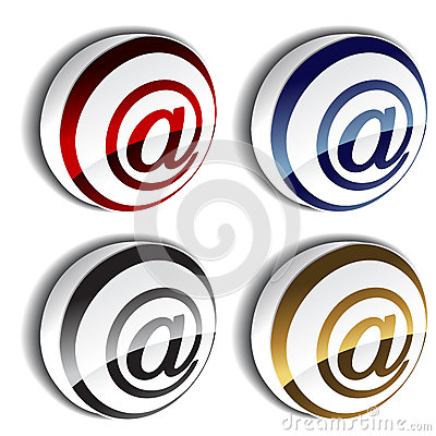3D e-mail icons