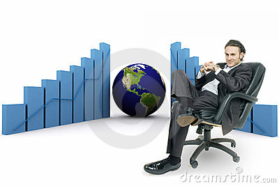 3d earth(americas) and graph