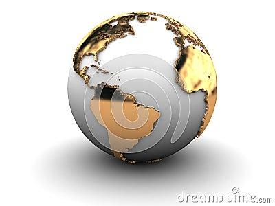 3d earth globe