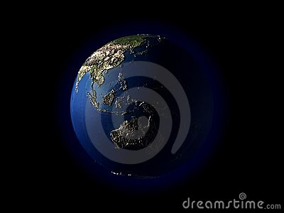 3D earth(terrain)Southeast Asia