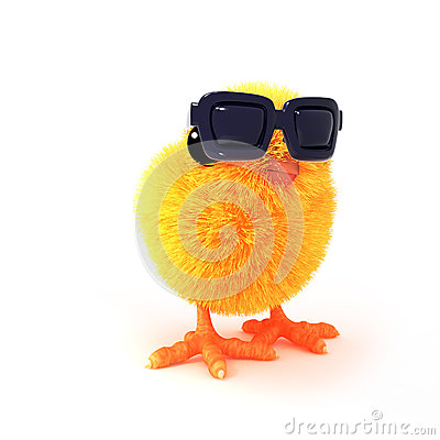 Free 3d Easter Chick Looks Cool Stock Photography - 38757362