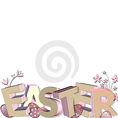 3D easter greeting