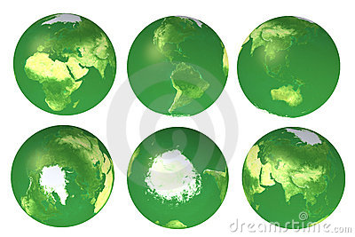 3d eco globe views