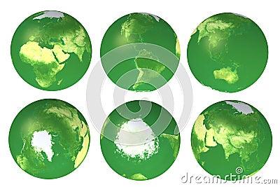 3d eco globe views