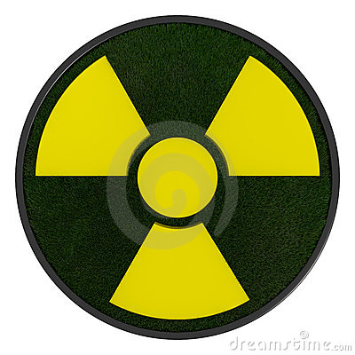 3D ecological radioactivity symbol