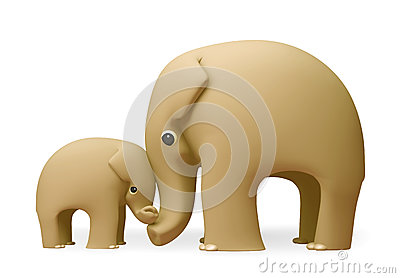 3D elephant happy mothers day