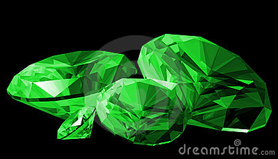 3d Emerald Gem Isolated