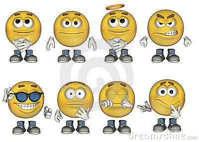 3D Emoticons set 1
