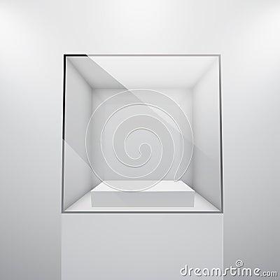 Free 3d Empty Glass Showcase Stock Photo - 24554250