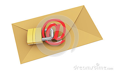 3d envelope protect with padlock