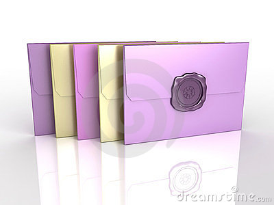 3d envelopes with sealing wax