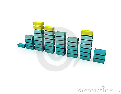 3D Equalizer Bar Graph