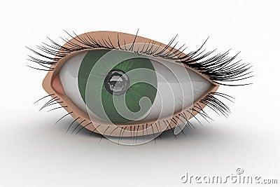 3D Eye Icon