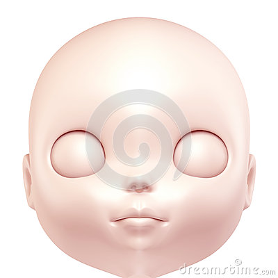 3D face of doll