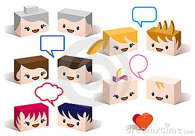 3D family avatars, vector