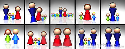 3D Family Icons