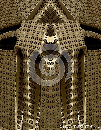 3d fantasy gold temple