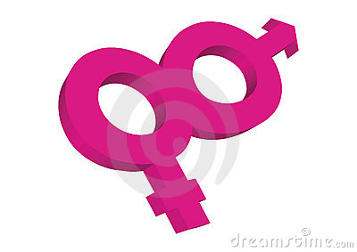 3d Female and male symbols