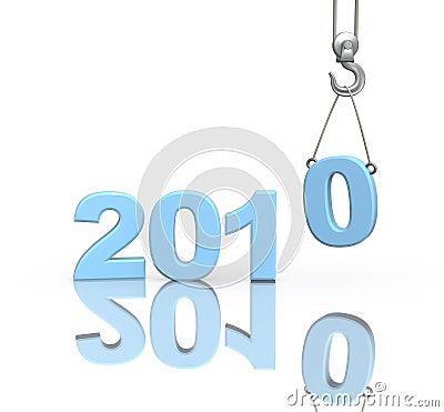 3d figures 2010 of blue color