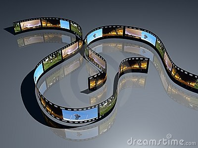 3d film positve film strip