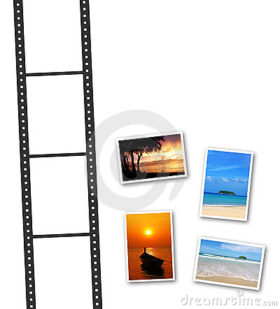 3D film strip and photos