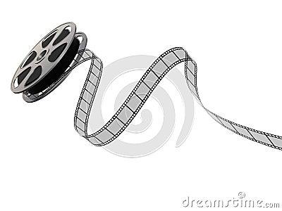 3D Film Strip on a Reel
