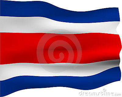 3D Flag of Costa Rica