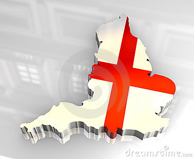3d flag map of England