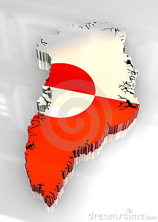 3d flag map of greenland