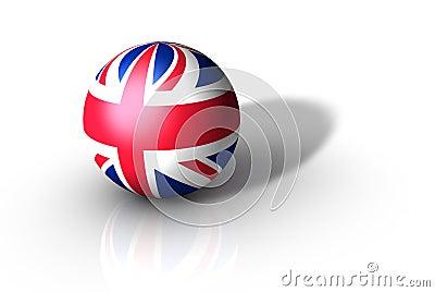 3d Flag Sphere, Britain