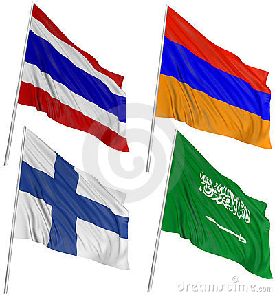 Free 3D Flags Of World Royalty Free Stock Photography - 14524987
