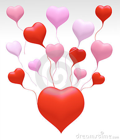 3D Float Love Colors Heart Royalty Free Stock Images - Image: 22023749