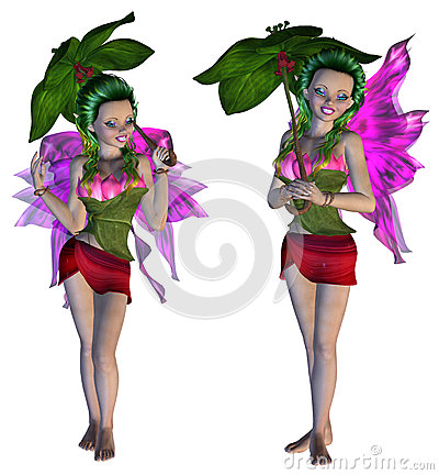 Free 3D Floral Fairy Stock Images - 41211134