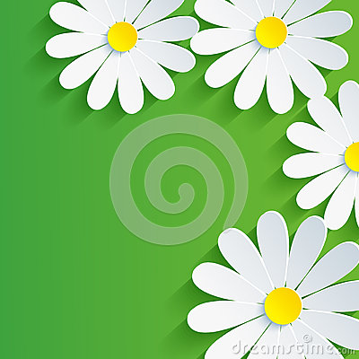 Free 3d Flower Chamomile, Spring Abstract Background Royalty Free Stock Photo - 34022695