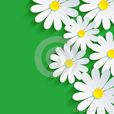 Free 3d Flower Chamomile, Spring Background Abstract Stock Photo - 34329680