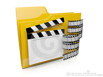 3d folder icon with the video